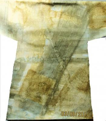 3-D ottoman coat scuplture