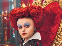 Alice in wonderland. big head queen of heart.