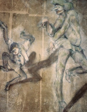 painting. commedia dell arte. moondance. all rights reserved l.chan-veronese 2010