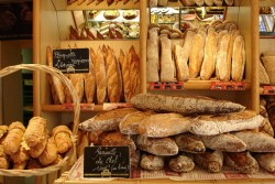 creativity at work; french baguette and yeast breads