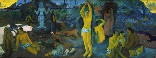 """"""" D 'ou venons nous? que sommes nous? ou allons nous"""" Painting by French Impressionist Paul Gauguin"""